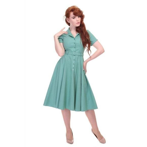 ce7f2a9926 Collectif Vintage Caterina Plain Swing Dress